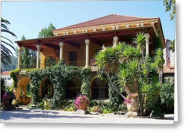 Villa Lafabreque Prades France Greeting Card by Marilyn Dunlap