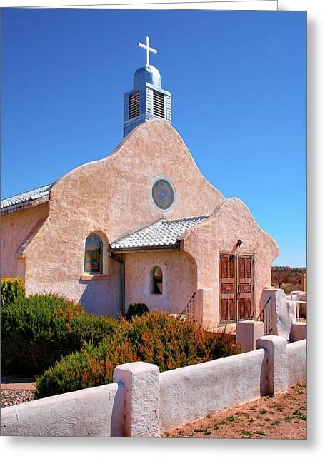 Village Adobe Church IIi Greeting Card by Steven Ainsworth