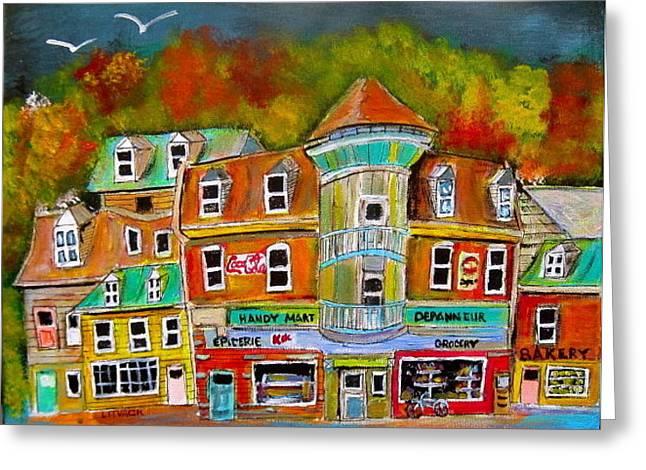Village Autumn Greeting Card by Michael Litvack