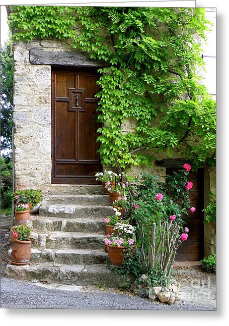 Village House In Fox-amphoux Greeting Card by Lainie Wrightson