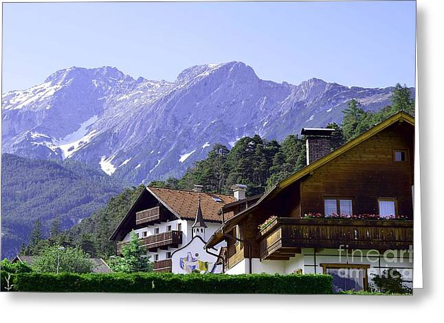 Village In Alps Greeting Card