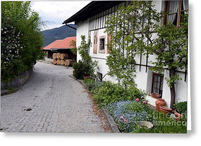 Village In Tyrol Greeting Card