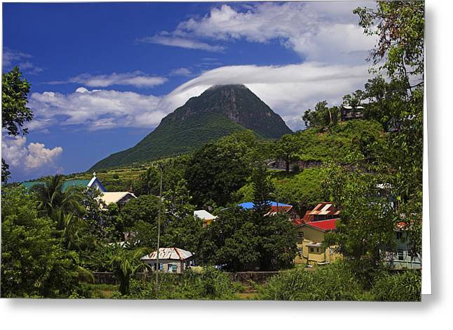 Greeting Card featuring the photograph Village Of Choiseul- St Lucia by Chester Williams