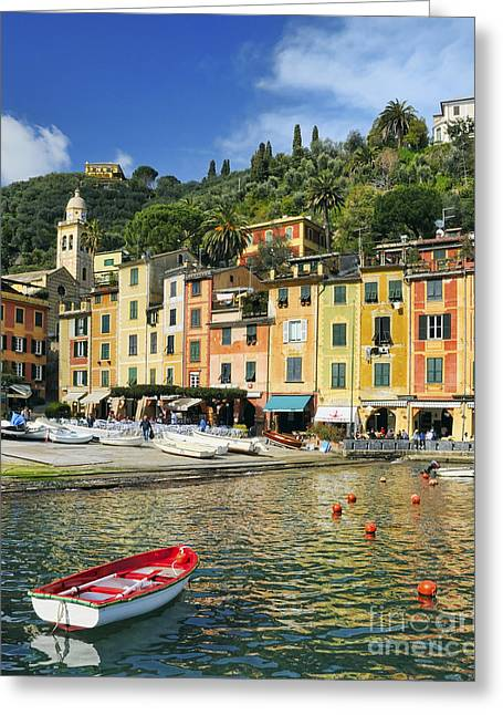 Village Of Portofino - Liguria - Italy Greeting Card by JH Photo Service