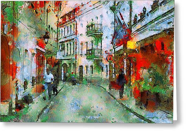 Vilnius Walk Greeting Card by Yury Malkov