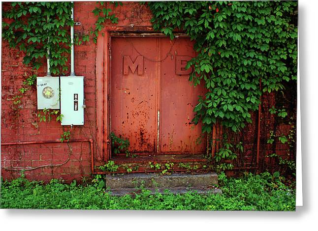 Greeting Card featuring the photograph Vines Block The Door by Paul Mashburn