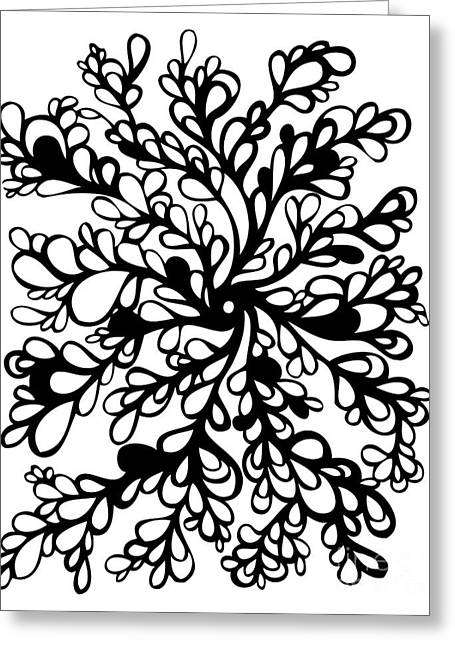 Vines Greeting Card by HD Connelly