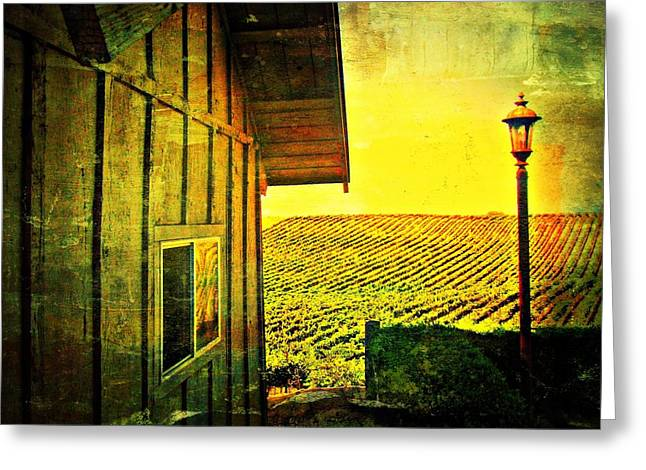 Vineyard Reflection Greeting Card by Kevin Moore