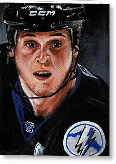 Vinny Lecavalier Greeting Card by Marlon Huynh