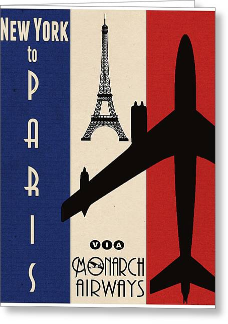 Vintage Air Travel Paris Greeting Card by Cinema Photography