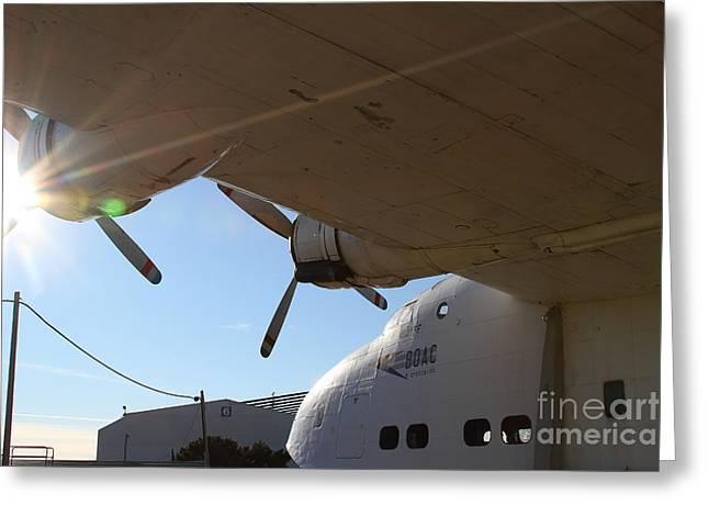 Vintage Boac British Overseas Airways Corporation Speedbird Flying Boat . 7d11286 Greeting Card