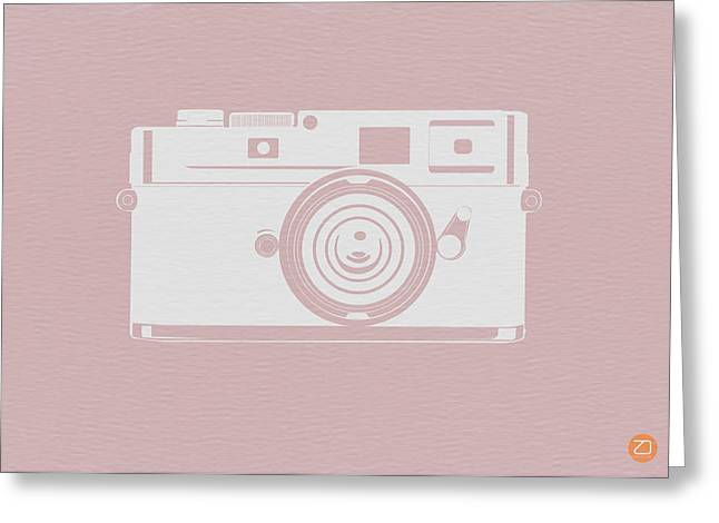 Vintage Camera Poster Greeting Card by Naxart Studio