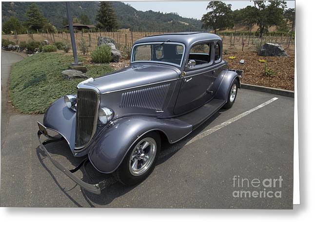 Vintage Car Alexander Valley Greeting Card
