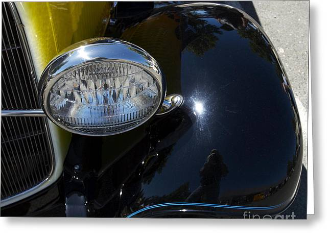 Vintage Car Reflection Greeting Card