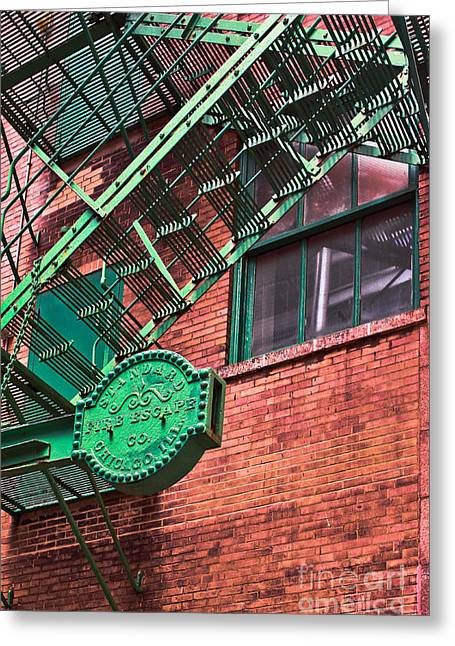 Vintage Fire Escape Greeting Card