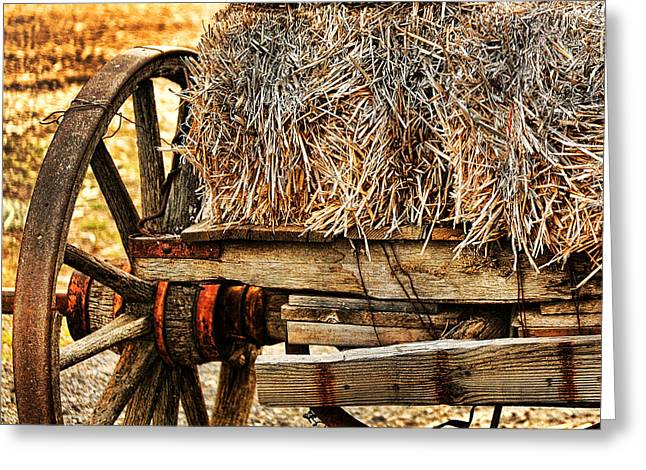 Vintage Hay Wagon Greeting Card