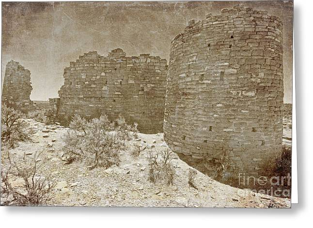 Vintage Hovenweep Castle Greeting Card by Bob and Nancy Kendrick