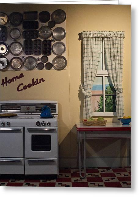 Vintage Kitchen 1 Greeting Card by Douglas Barnett