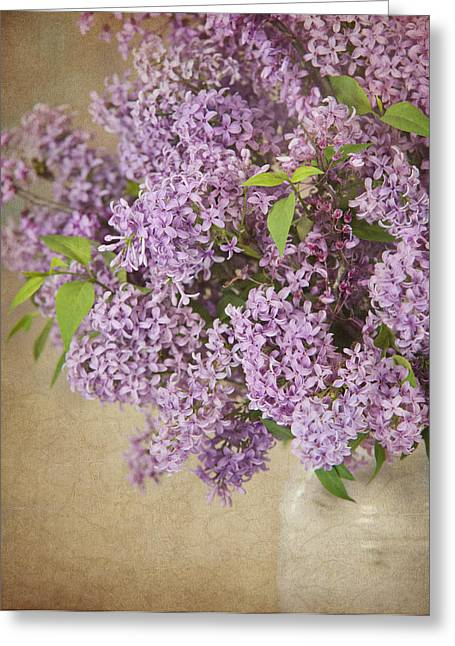 Greeting Card featuring the photograph Vintage Lilac by Cheryl Davis