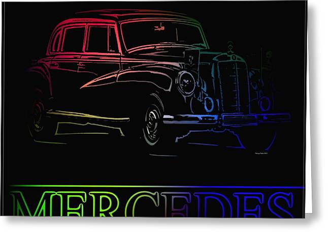 Greeting Card featuring the photograph Vintage Mercedes by George Pedro