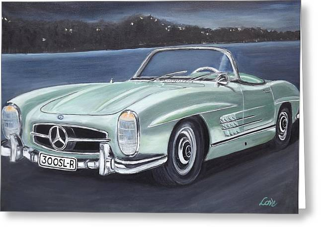 Vintage Mercedes Greeting Card