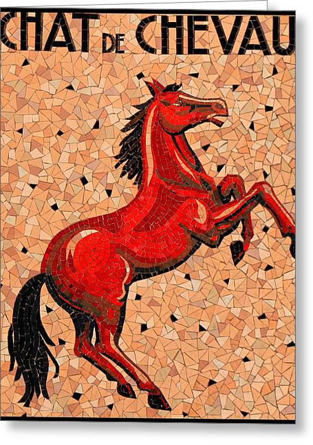 Vintage Mosaic Sign Greeting Card by Andrew Fare