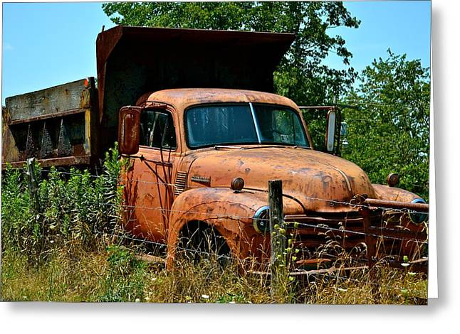 Greeting Card featuring the photograph Vintage Old Time Truck by Peggy Franz