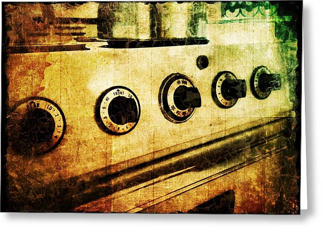 Vintage Oven Greeting Card by Jaclyn Dilling