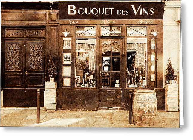 Vintage Paris 4 Greeting Card by Andrew Fare