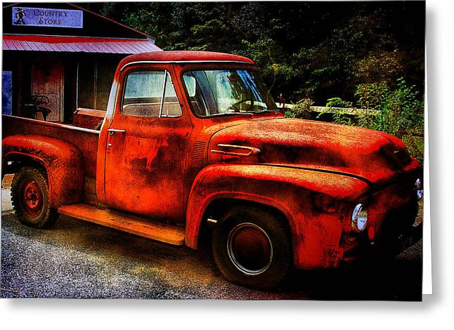 Vintage Pickup Truck Greeting Card by Trudy Wilkerson