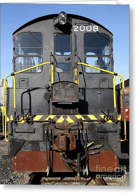 Vintage Railroad Trains . 7d11598 Greeting Card by Wingsdomain Art and Photography