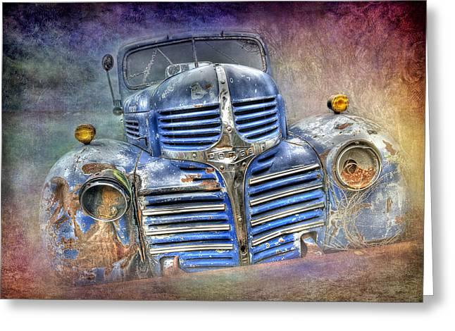 Vintage Rainbow Dodge Greeting Card