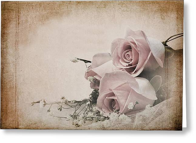 Vintage Roses Greeting Card by Trudy Wilkerson