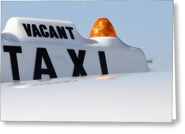 Vintage Taxi Greeting Card