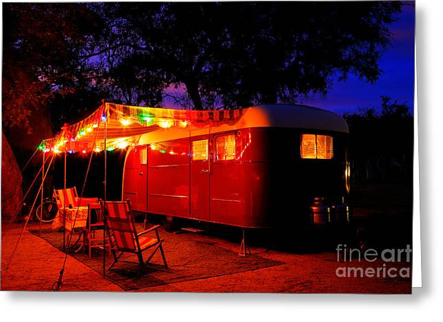 Vintage Vagabond Trailer Greeting Card