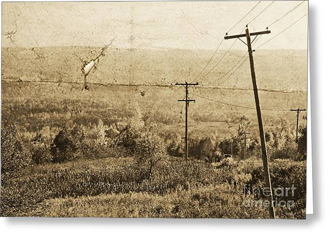 Vintage View Of Ontario Fields Greeting Card