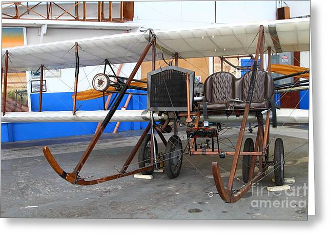Vintage Wright Brothers Type Airplane . 7d11147 Greeting Card by Wingsdomain Art and Photography