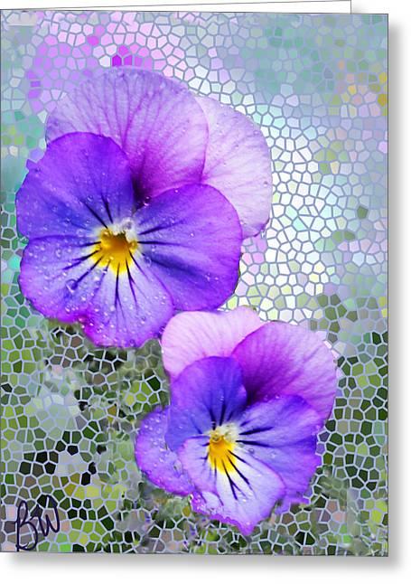 Viola On Glass Greeting Card