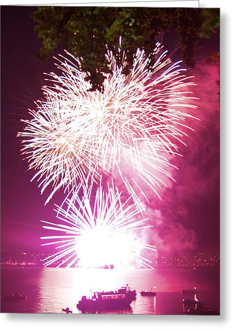 Greeting Card featuring the photograph Violet Explosion by JM Photography