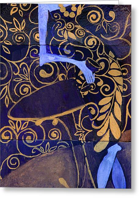 Violet Lady Greeting Card
