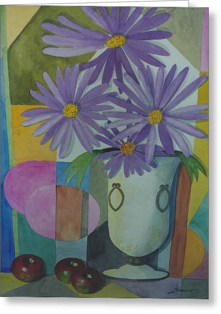 Violetas Greeting Card by Juan  Salazar