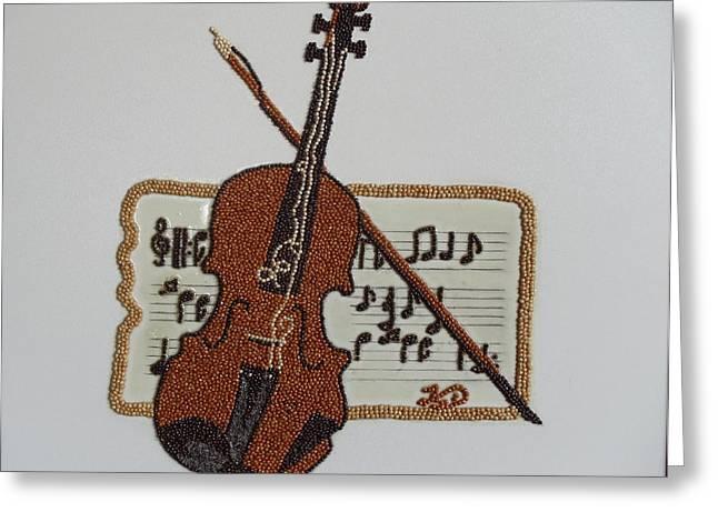 Violin Greeting Card by Kovats Daniela
