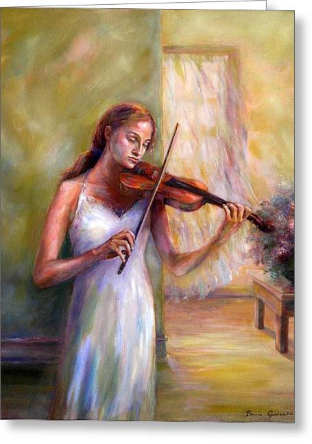 Violin Sonata Greeting Card