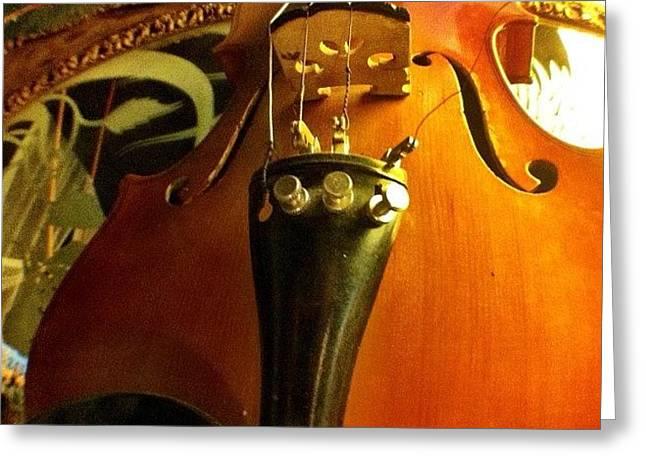 #violin #viola #music #art Greeting Card