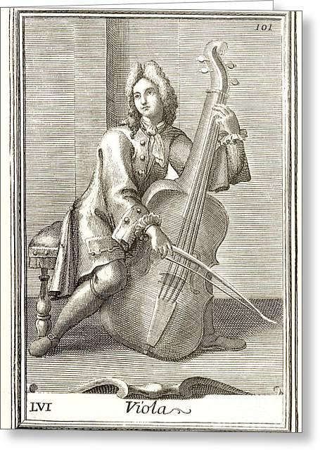 Violoncello, 1723 Greeting Card