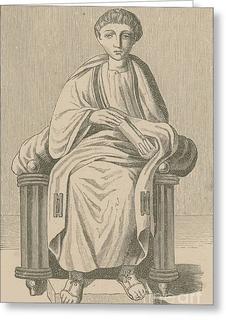 Virgil, Roman Poet Greeting Card by Photo Researchers