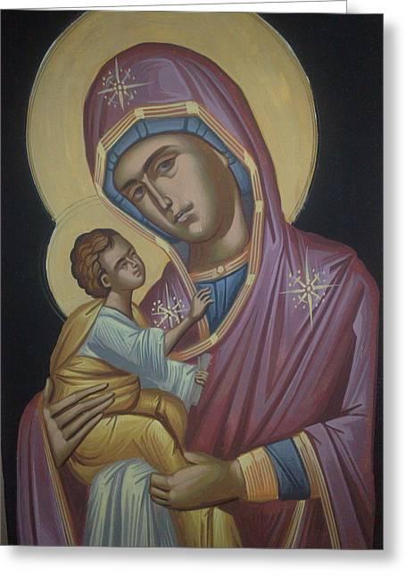 Virgin Mary Greeting Card by Dimitri Kartsaklis