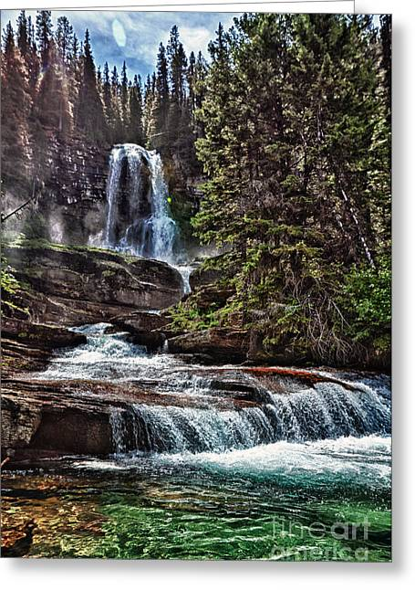 Virgina Falls On Virginia Creek Greeting Card