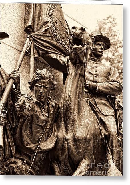 Virginia Monument Gettyburg Greeting Card