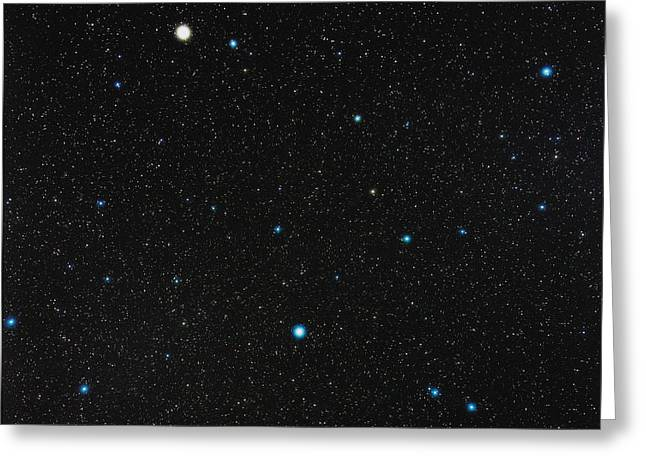 Virgo Constellation Greeting Card by Eckhard Slawik